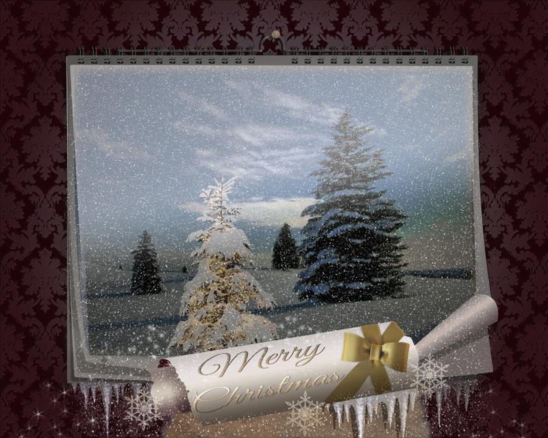 FAIRY CHRISTMAS NIGHT. MAGIC WALL CALENDAR Tuto1211