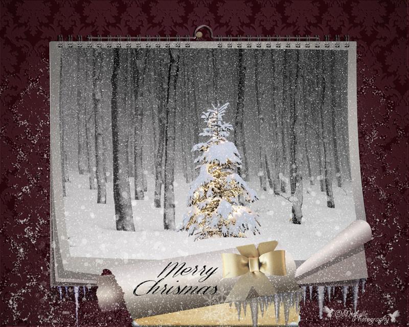 FAIRY CHRISTMAS NIGHT. MAGIC WALL CALENDAR Missin11