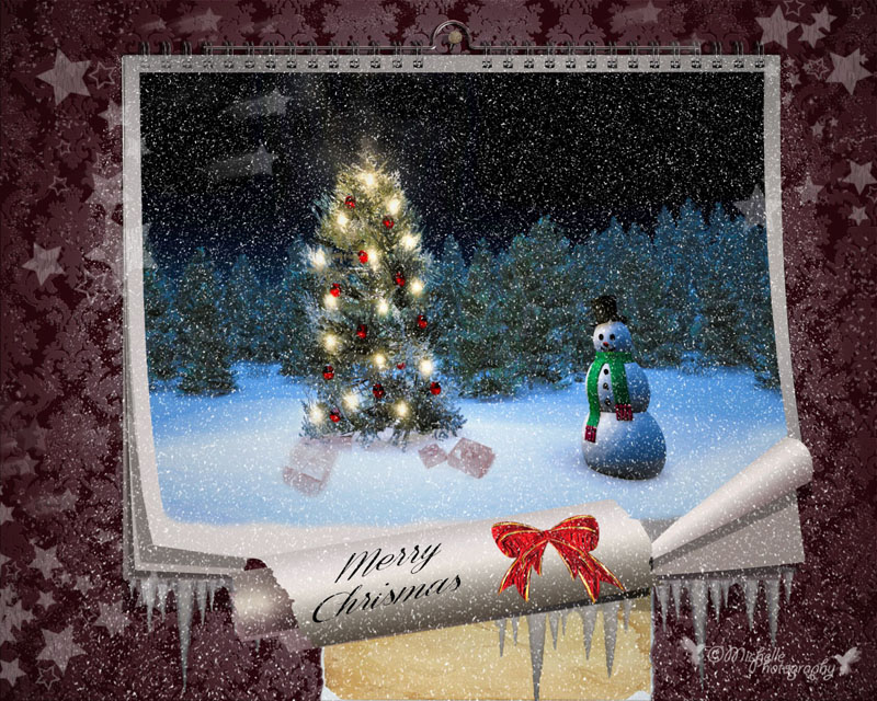 FAIRY CHRISTMAS NIGHT. MAGIC WALL CALENDAR Neige_10