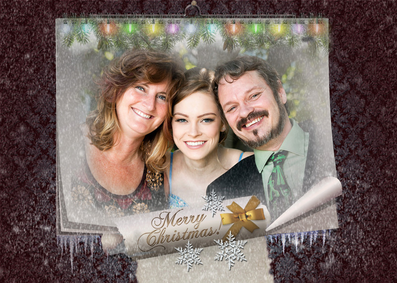 FAIRY CHRISTMAS NIGHT. MAGIC WALL CALENDAR Xmas-c12