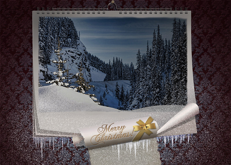 FAIRY CHRISTMAS NIGHT. MAGIC WALL CALENDAR Xmas_c10