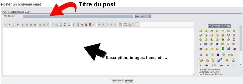 (Tutoriel) Comment créer un post dans le forum ? 021010