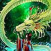 jeune femme japonaise avec un dragon clair