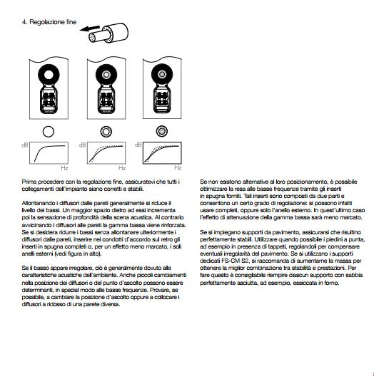 Posizionamento diffusori Cattur54