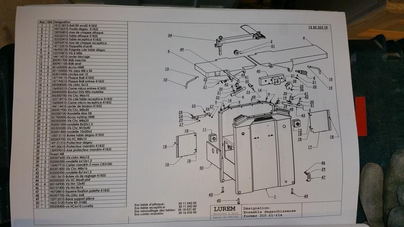 Help ! Problème avec les rouleaux d'entraînement rabotage sur Lurem CB310RL 20161114