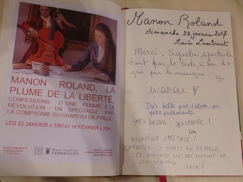 Manon Roland, la plume de la liberté. Représentations au Musée Lambinet Livre_11