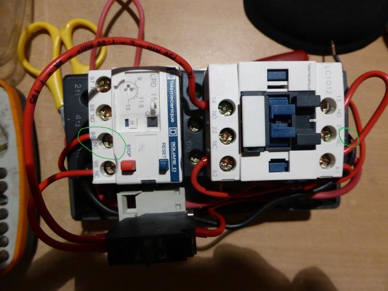 Remplacement moteur 2 arbres sur  combiné Kity 26  Contac10