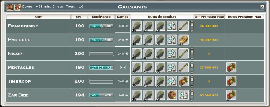 Screenshot des loot à partager entre guildeux Captur11