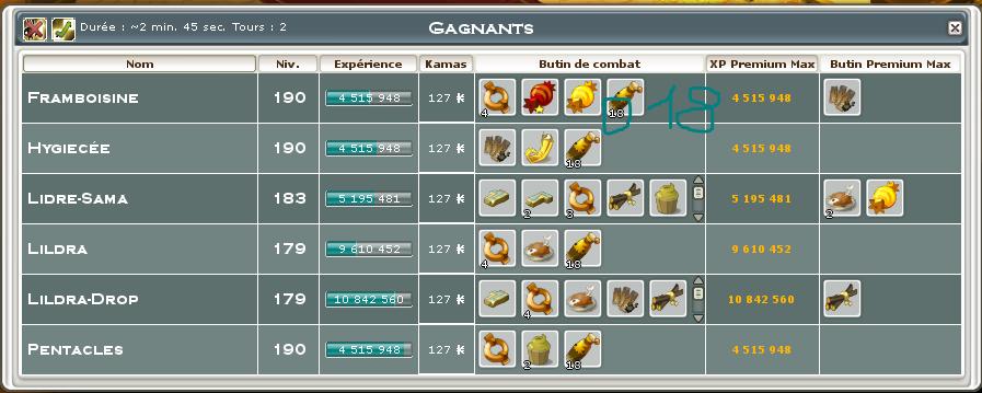 Screenshot des loot à partager entre guildeux Captur12