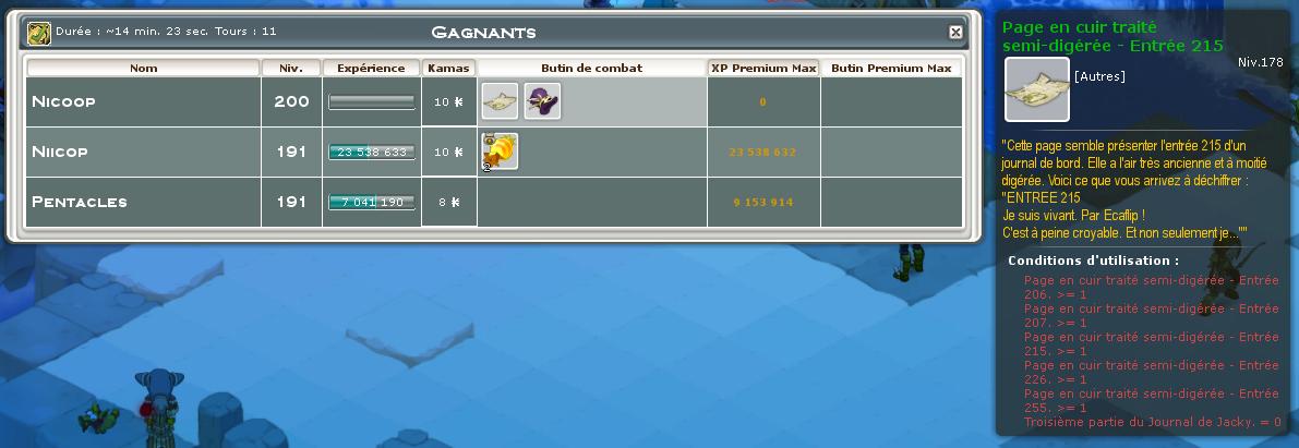 Screenshot des loot à partager entre guildeux Wwtf10
