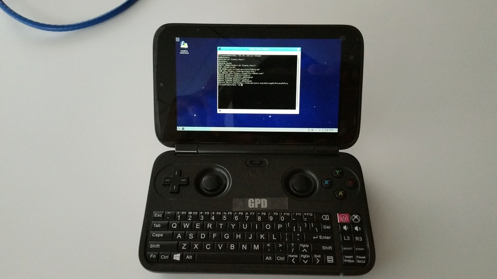 Linux on the GPD Win 20161111