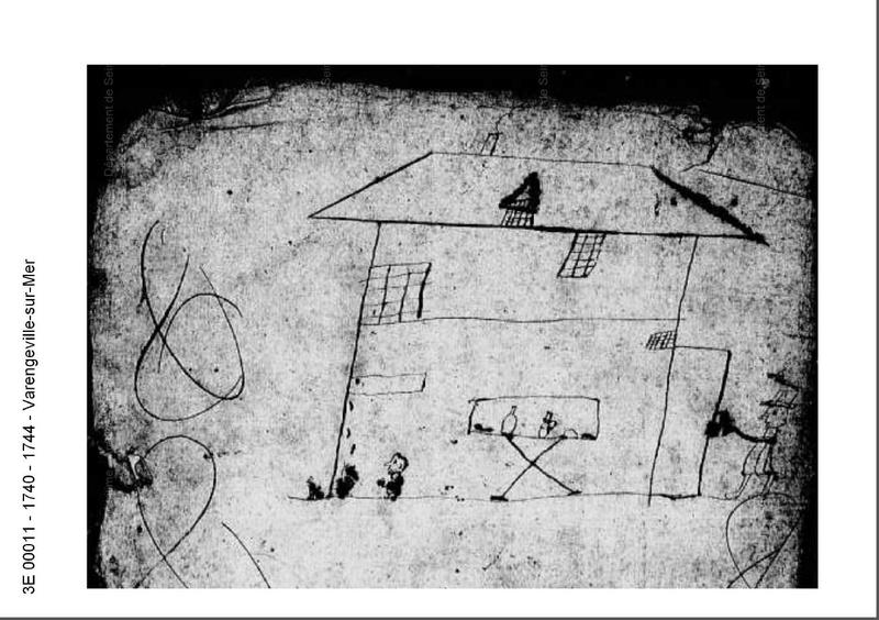 1740 Varengeville sur mer Le GROS propriétaire et le petit curé  1740_v11