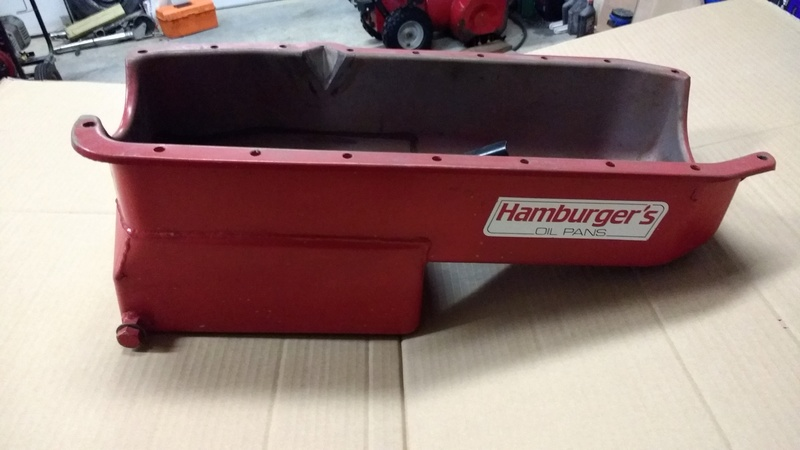 Hamburger 7 qt. Small Block Chevy Oil Pan with Pick up Hambur10