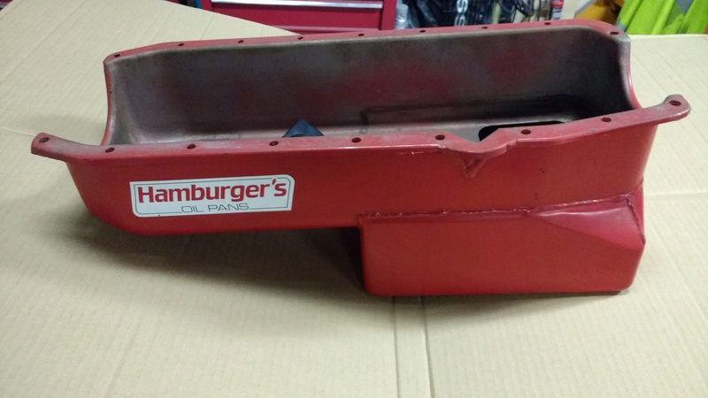Hamburger 7 qt. Small Block Chevy Oil Pan with Pick up Hambur11
