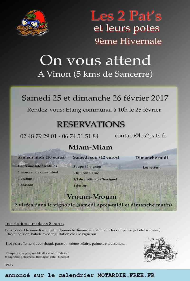 Concentration  Hivernale des 2 Pat's (18-CHER) 25 et 26/02/2017 17029112