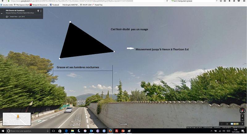 grasse - 1990: le 05/11 à autour de 19h - Ovni triangulaire volant - Grasse - Alpes-Maritimes (dép.06) Appare12