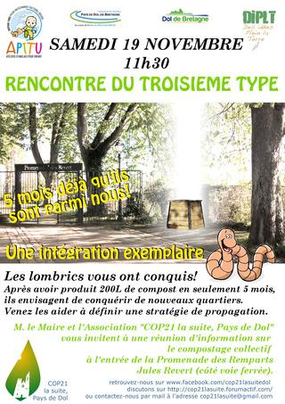 Affiche compostage collectif et actions menée 5_mois15