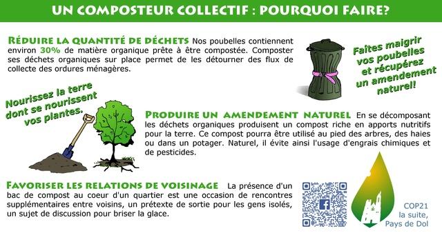 Affiche compostage collectif et actions menée Affich21