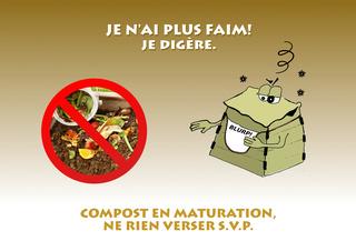 Affiche compostage collectif et actions menée Pannea13
