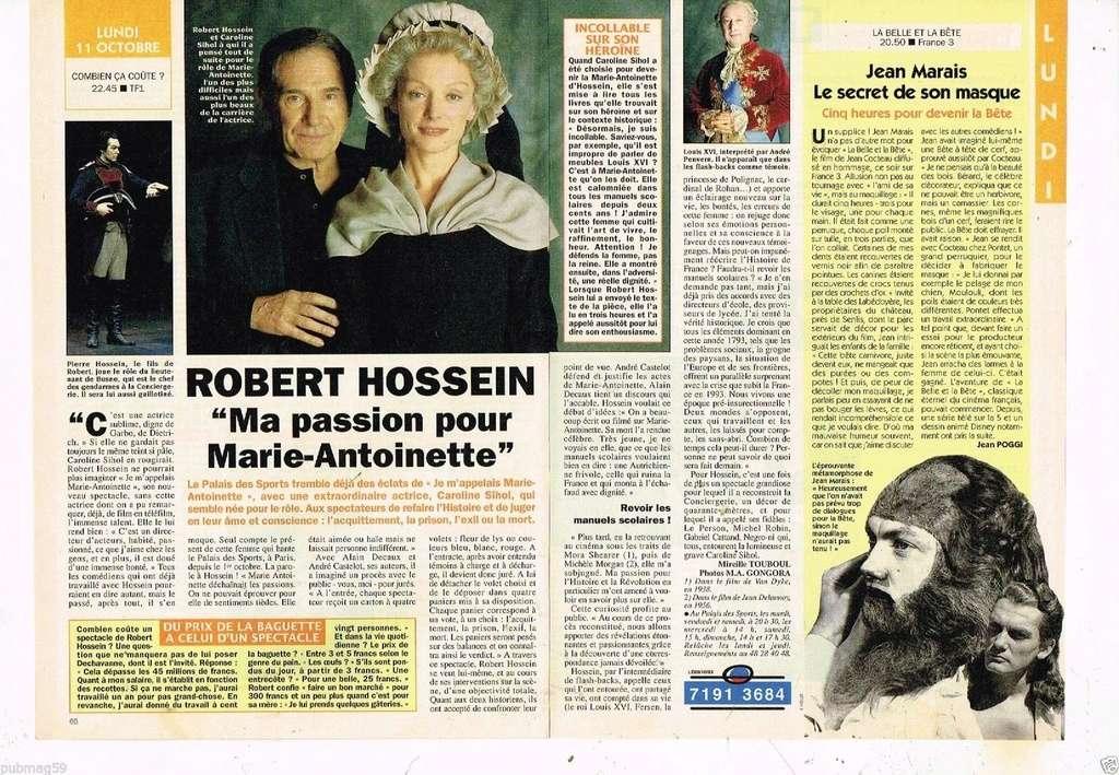 """""""Je m'appelais Marie Antoinette"""" (Robert Hossein) _5710"""