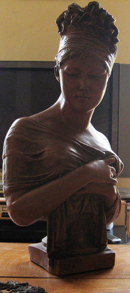 buste platre - BUSTE DE FEMME SCULPTURE PLATRE  052_210