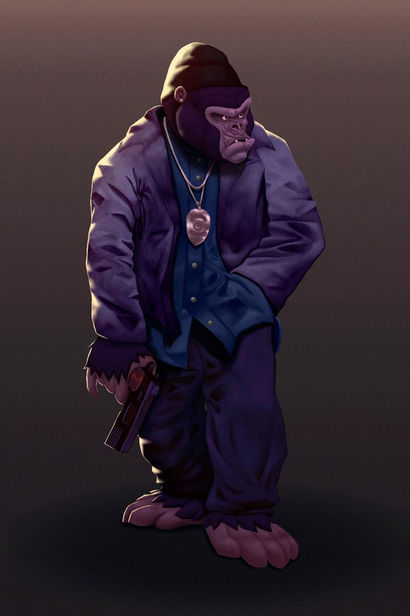 Kâmö le dessinateur Kanak Gorill10