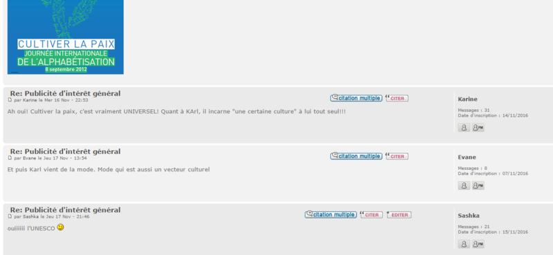 Catalogue- capture d'écran FORUM Forum510