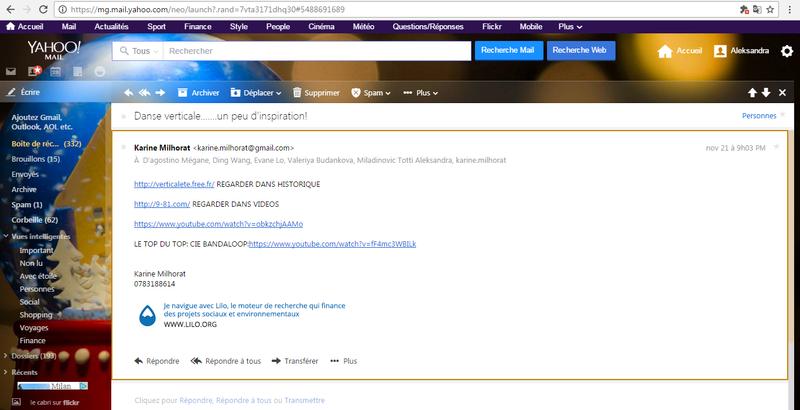 Catalogue- capture d'écran GOOGLE DOCS Mail_k10