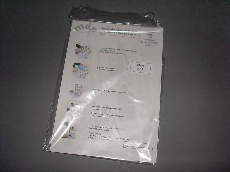 Imprimante Jet d/'encre 5 Feuilles de Papiers Décalcomanies à eau Transparent