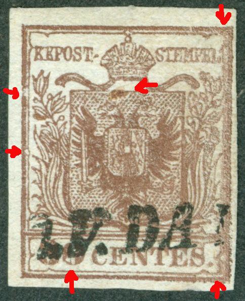 Briefmarken - Lombardei - Venetien 1850 - 1858 - Seite 4 1850_310