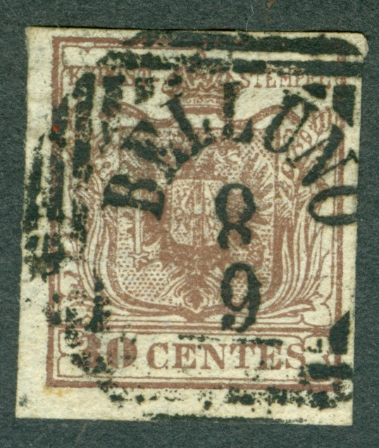 Briefmarken - Lombardei - Venetien 1850 - 1858 - Seite 4 1850_313