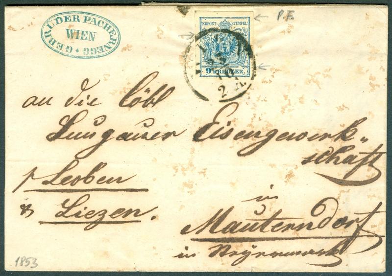 Die erste Österreichische Ausgabe 1850 - Seite 8 1853_911