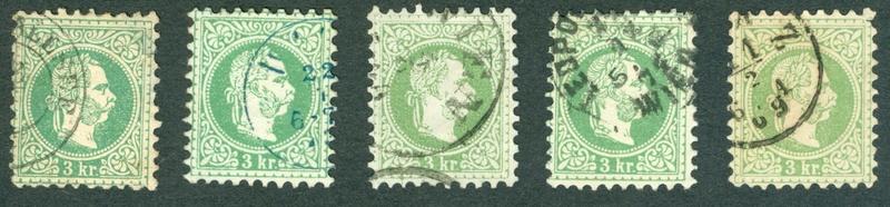 Freimarken-Ausgabe 1867 : Kopfbildnis Kaiser Franz Joseph I - Seite 15 1867er19