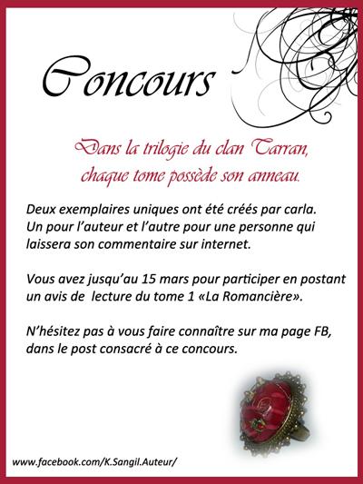 K.Sangil - LE CLAN TARRAN - T1. La Romancière Avis_c11