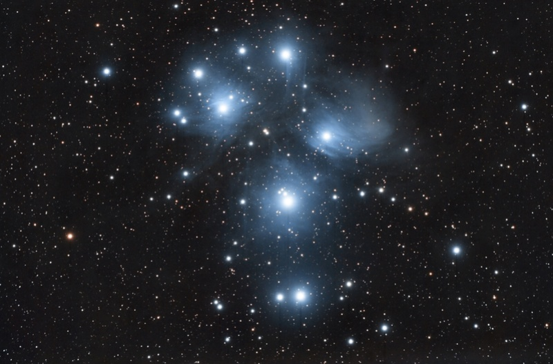 M45 du 5,7 et 8 décembre.  M45c_c12