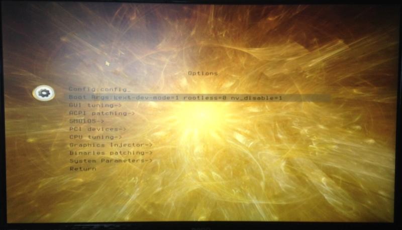 Première Hack : avec INSTALLER MACOS SIERRA HD Img_1710