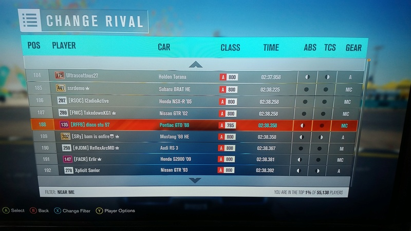 (FH3) Leaderboard Attack #5 RESULTS UP 20161210