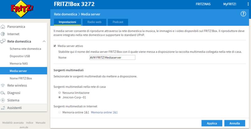 Problemi memoria usb FRITZ!Box 3272 Cattur14
