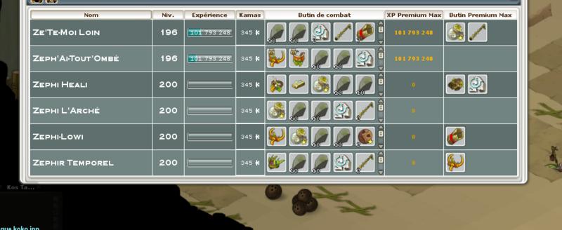 Screenshot des loot à partager entre guildeux 3talis10
