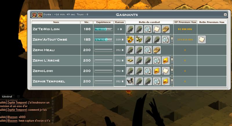 Screenshot des loot à partager entre guildeux Captur10