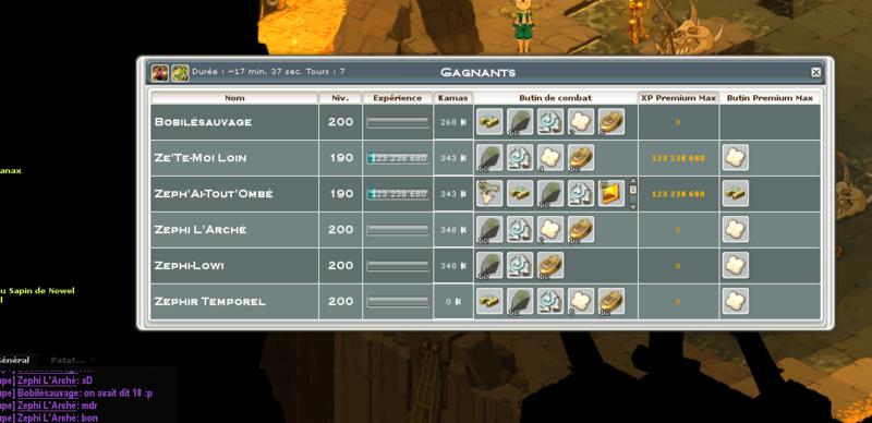 Screenshot des loot à partager entre guildeux Dent10
