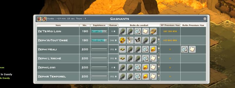 Screenshot des loot à partager entre guildeux Dent210