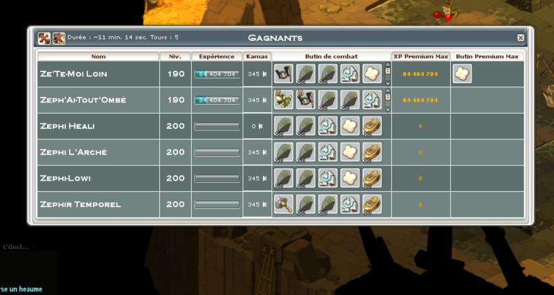Screenshot des loot à partager entre guildeux Heaume10
