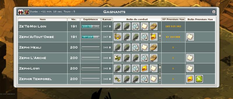 Screenshot des loot à partager entre guildeux Heaume11
