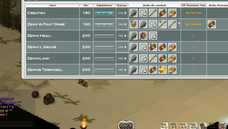Screenshot des loot à partager entre guildeux Kokors10