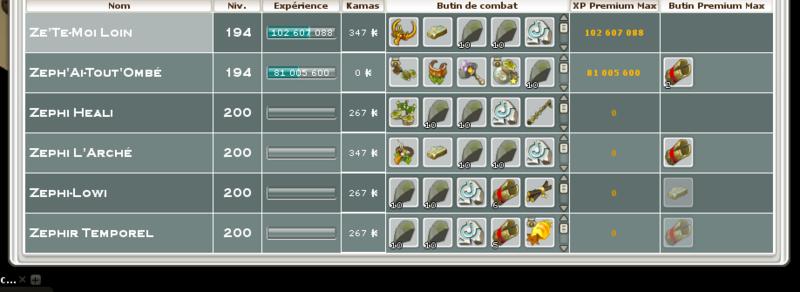 Screenshot des loot à partager entre guildeux Kokors11