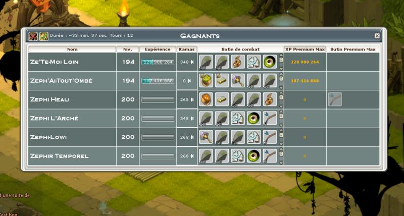 Screenshot des loot à partager entre guildeux Poigne10