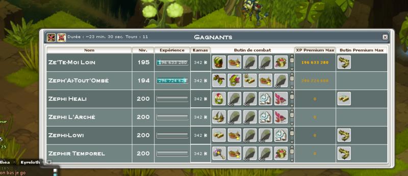 Screenshot des loot à partager entre guildeux Tilyqu10