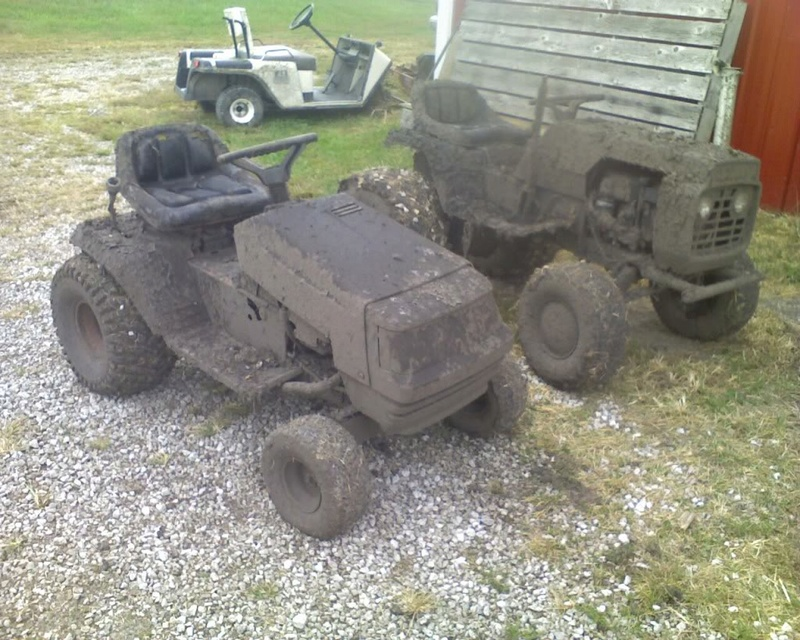 new member here but not new to hot rod mowers Mud10