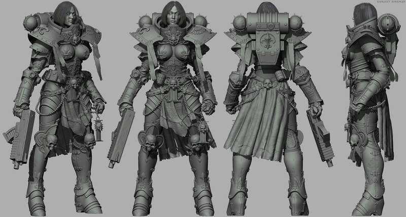 Warhammer 40,000 - Sisters of Battle Statue Turnta10